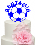 Football with Personalised Name Cake Acrylic Topper